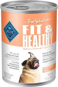 Blue Buffalo True Solutions Fit & Healthy Natural Weight Control Adult Dry Dog Food and Wet Dog Food, Chicken .00 Pack of 12