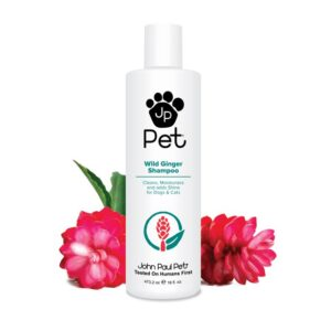 John Paul Pet Wild Ginger Shampoo for Dogs and Cats, Soothes and Cleanses Adding Moisture and Shine, 16-Ounce, clear .92