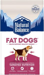 Natural Balance Fat Dogs Low-Calorie Dry Dog Food for Overweight Adult Dogs (Packaging May Vary) .83