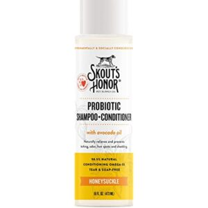 Skout's Honor Probiotic Pet Shampoo + Conditioner (Honeysuckle) for a Healthier Skin and Coat .99