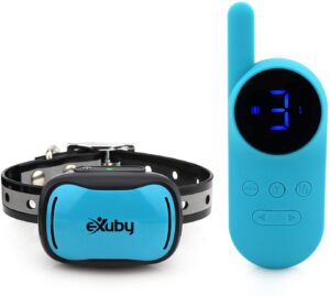 eXuby - Tiny Shock Collar for Small Dogs 5-15lbs - Smallest Collar on The Market - Sound, Vibration, & Shock - 9 Intensity Levels - Pocket-Size Remote - Long Battery Life - Water-Resistant - Teal .99