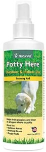 NaturVet – Potty Here Training Aid Spray – Attractive Scent Helps Train Puppies & Dogs Where to Potty – Formulated for Indoor & Outdoor Use .99