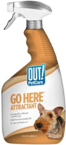 OUT! Go Here Attractant Indoor & Outdoor Dog Training Spray | Housetraining Aid for Puppies and Dogs | 32 Oz .28