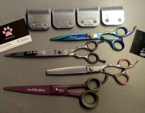 dog grooming scissors kit