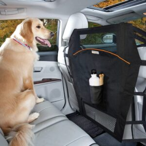Kurgo Backseat Dog Barrier for Cars & Suv, Automotive Pet Barrier, Backseat Barrier for Dogs, Reduce Distractions while Driving, Mesh Opening, Easy Installation, storage Pockets, Universal Fit .50