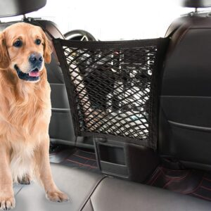 STARROAD-TIM Dog Car Barrier Vehicle Pet Barrier Backseat Mesh Dog Car Divider Net with Adjusting Rope and Hook Suitable for SUV Pickup and Small Car .99