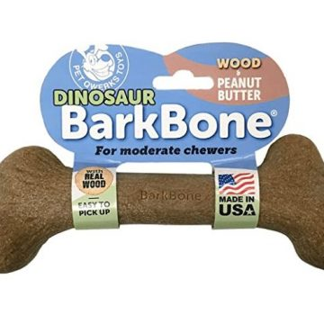 pet qwerks dinosaur barkbone wood