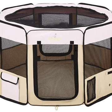 zampa portable playpen for camping